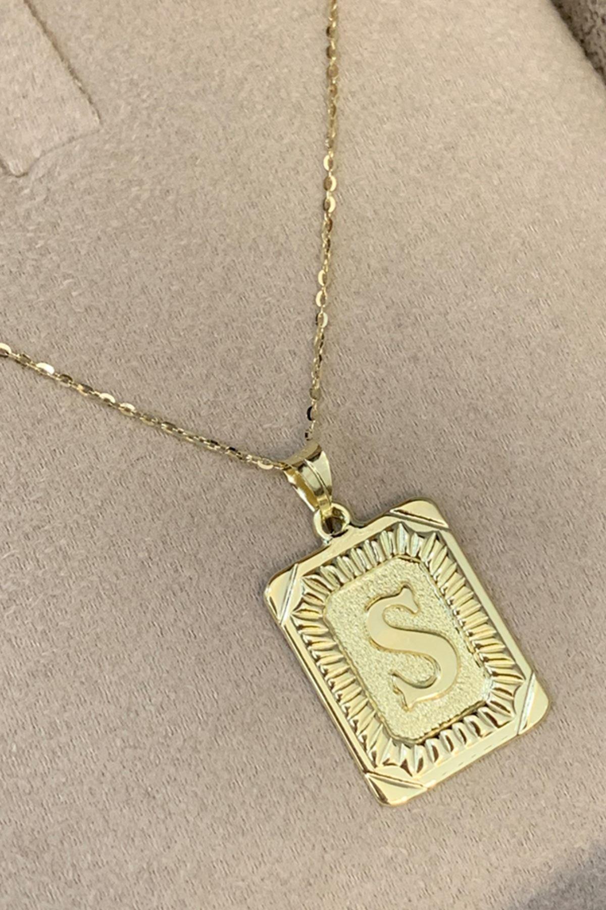 Harf Altın Kolye KL0023
