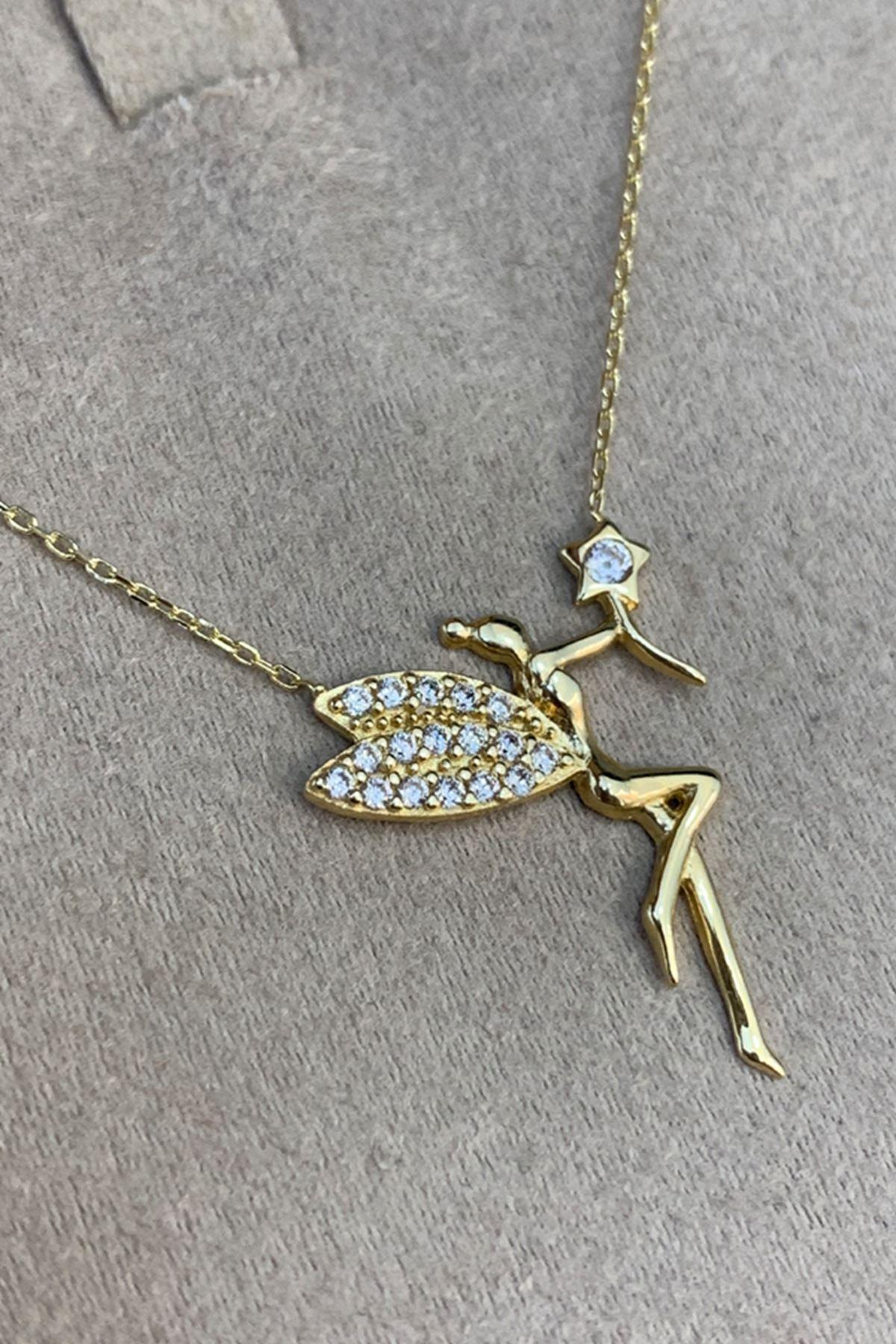 Peri Kız Altın Kolye KL0082