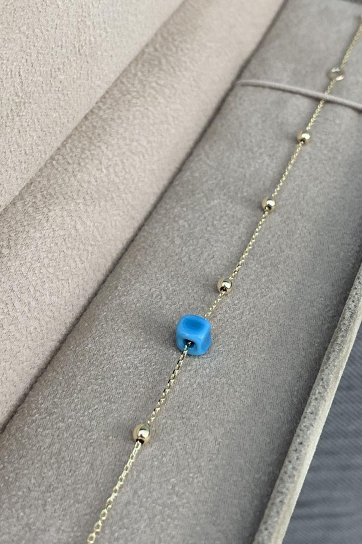 Mavi Boncuklu Bileklik Y00288