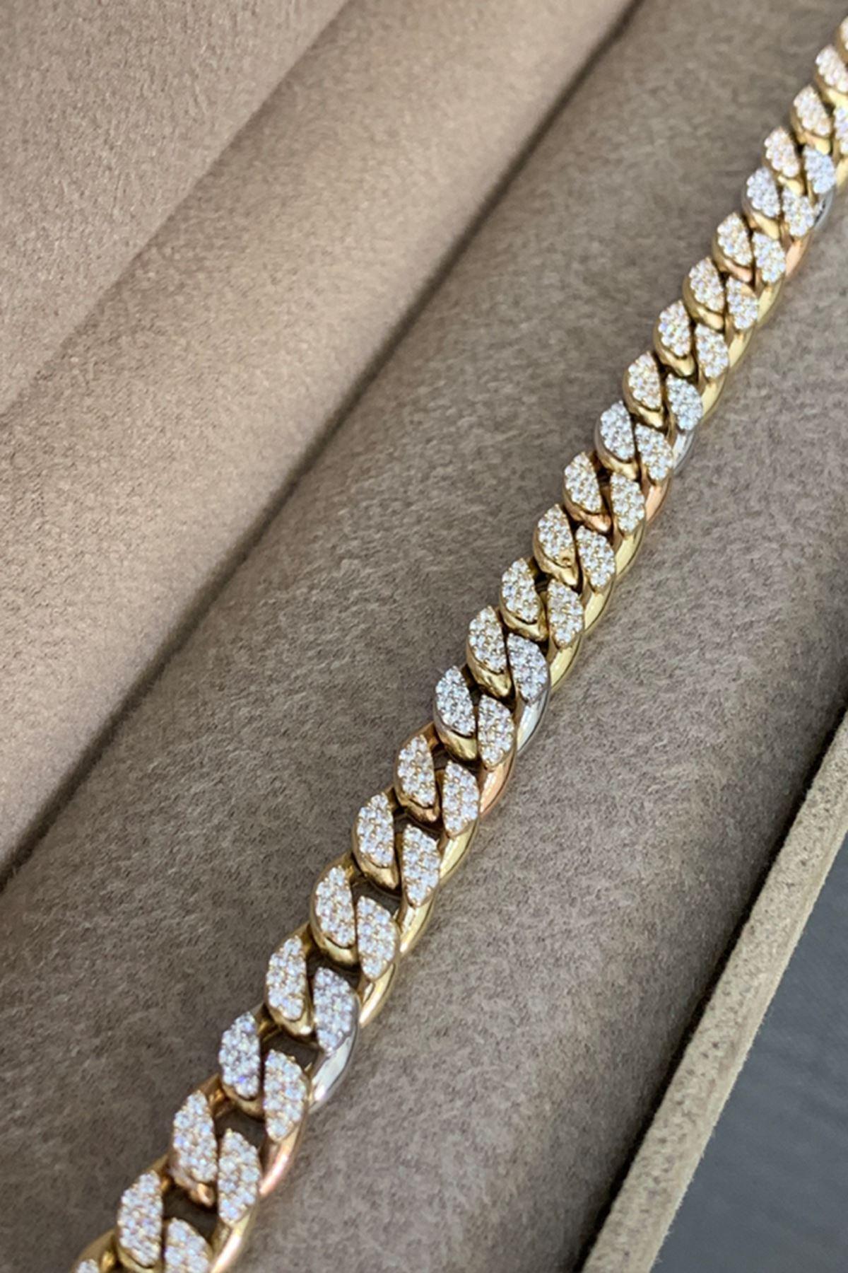 Taşlı Altın Bileklik BL0202