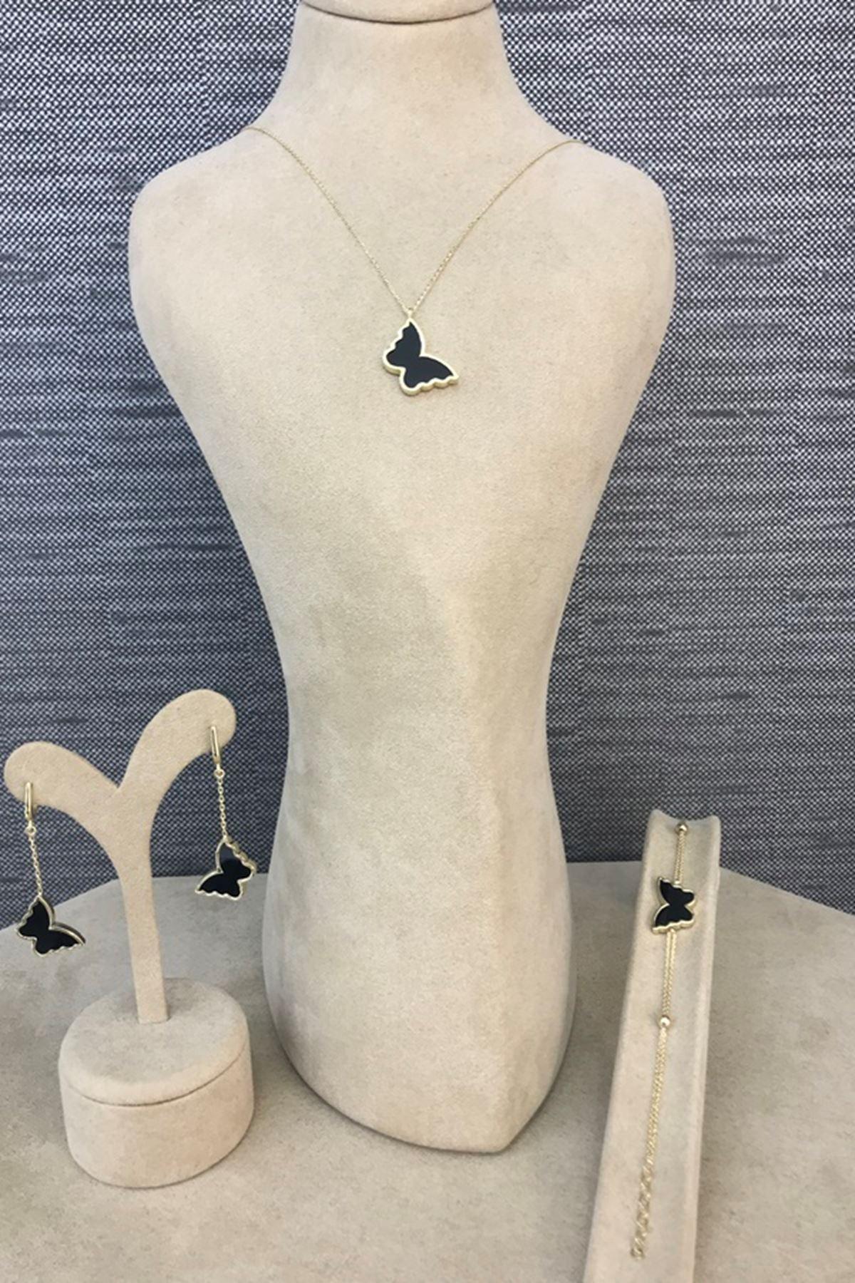 Onix Taşlı Kelebek Bileklik Y00683