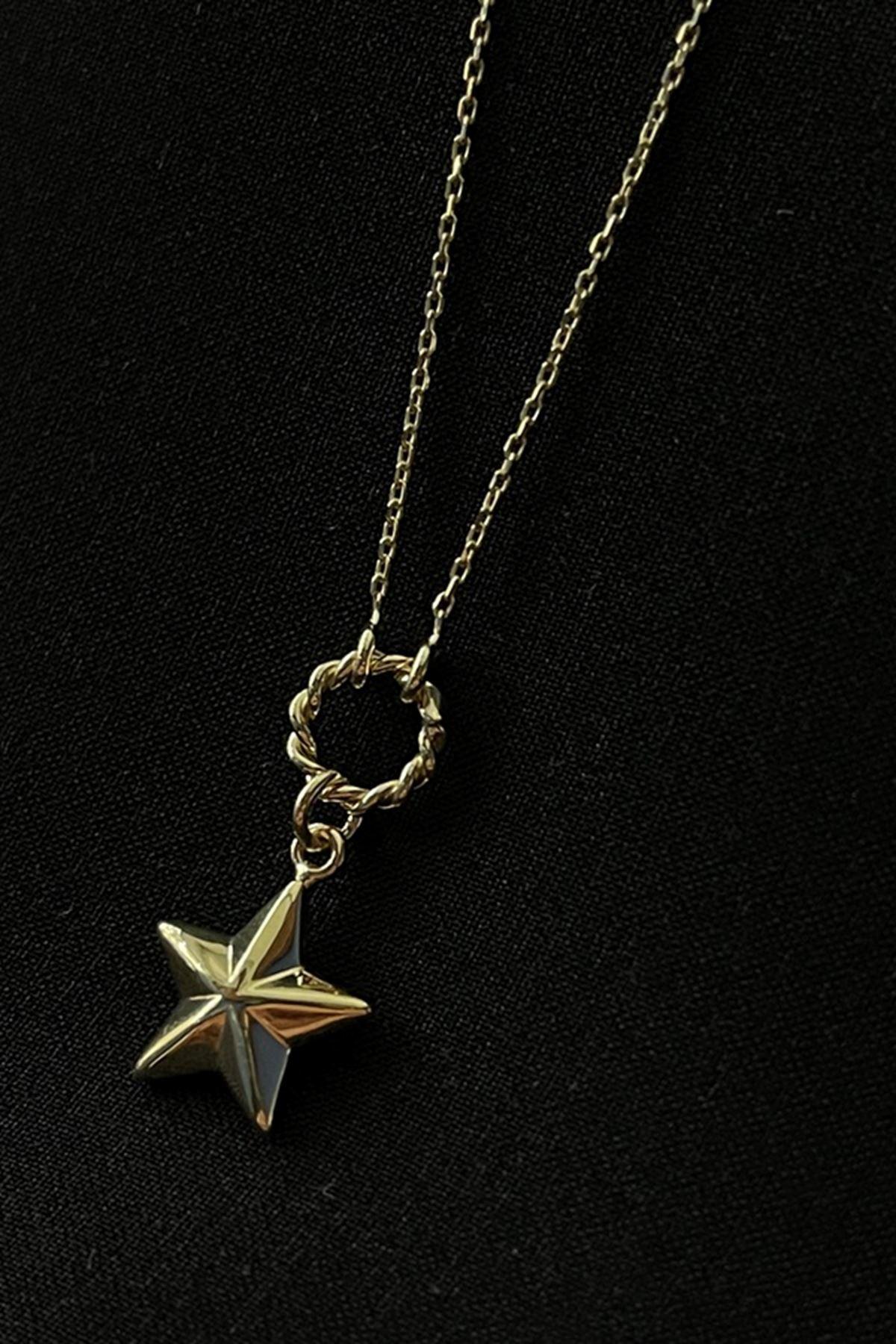Halkalı Yıldız Kolye KL0234