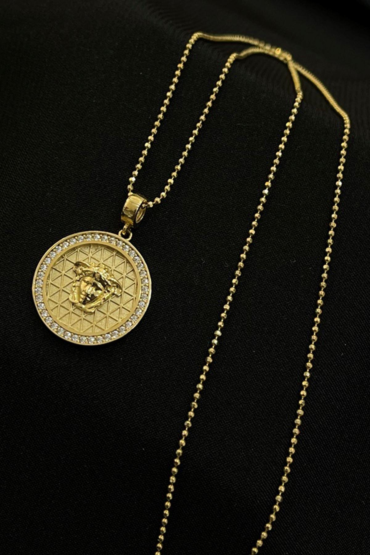 Figürlü Madalyon Kolye KL0249