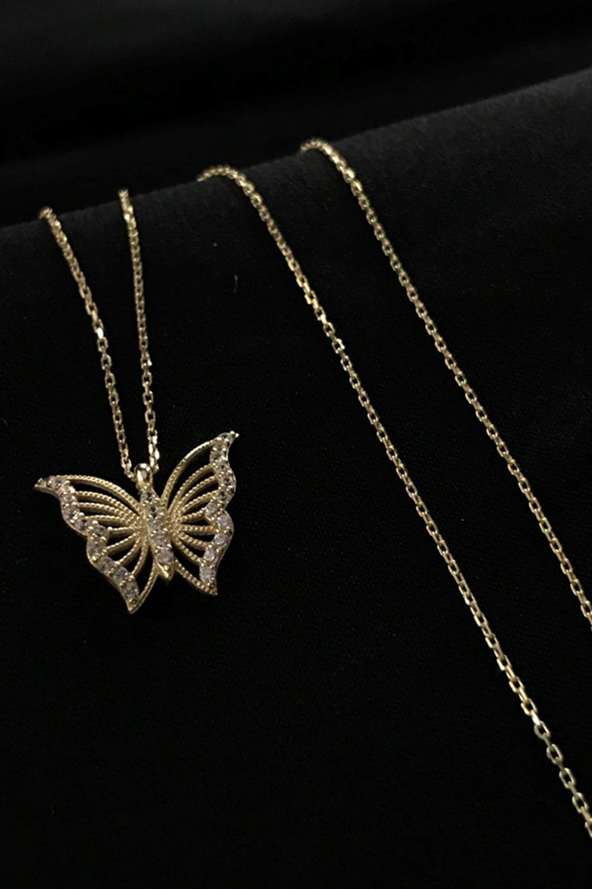 Kelebek Kolye 8A0014