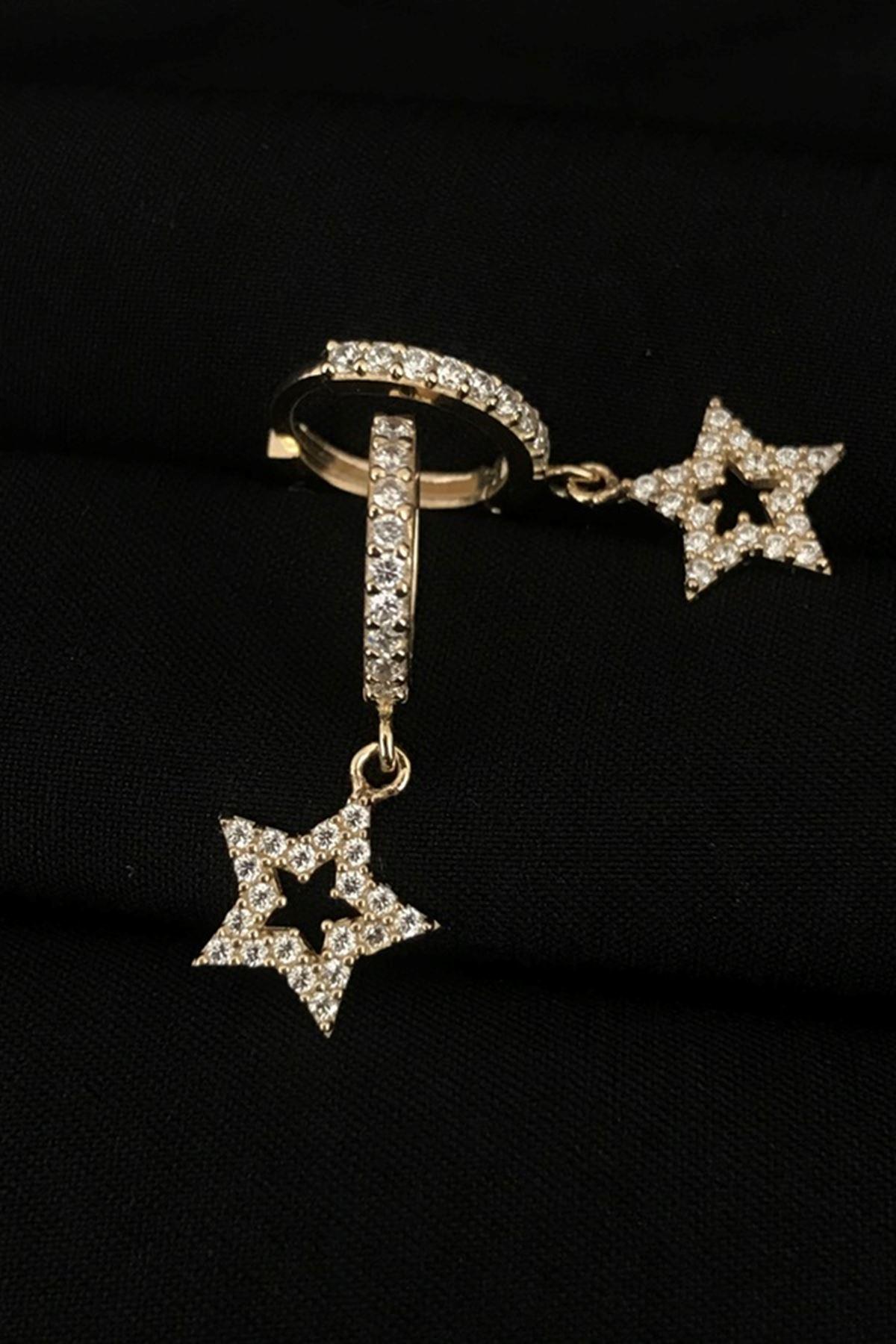 Taşlı Yıldız Küpe KP0121