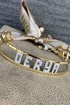 İsim Yazılı Taşlı Altın Bilezik Y00018
